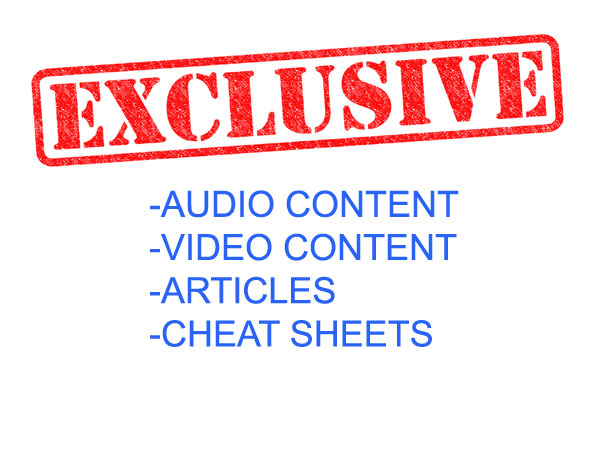 Exclusive Member's Only Content