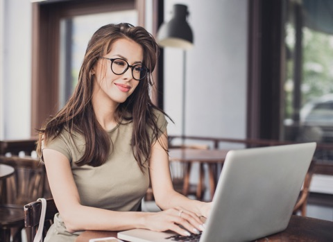 woman watching monitor