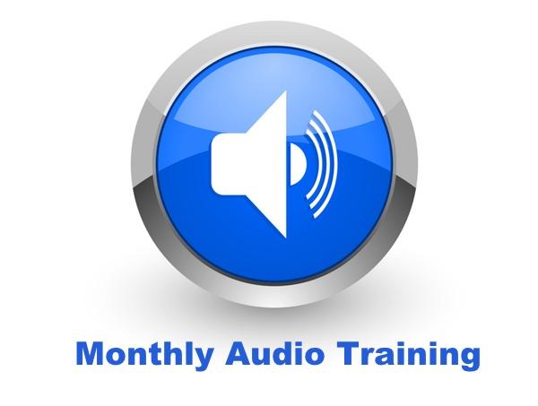 monthly audio training graphic slider