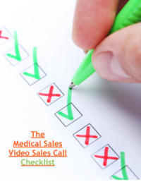 medical sales video sales call checklist